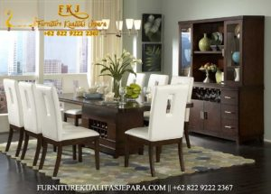 Furniture Model Kursi Makan Minimalis Jati Terbaru