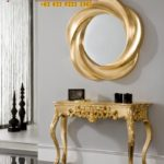 Gold Console Mewah Meja Dinding Modern